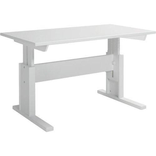 Lifetime Schreibtisch höhenverstellbar 120cm weiss, 30255-10