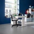 Lifetime Schreibtisch höhenverstellbar 120cm weiss,...