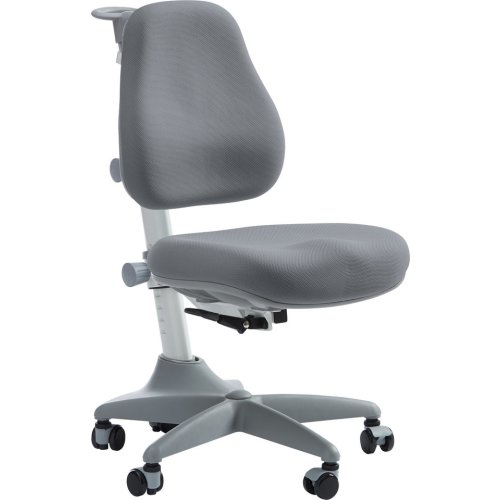 FLEXA ergonomischer Kinder-Schreibtischstuhl VERTO, grau auf Rollen, höhenverstellbar
