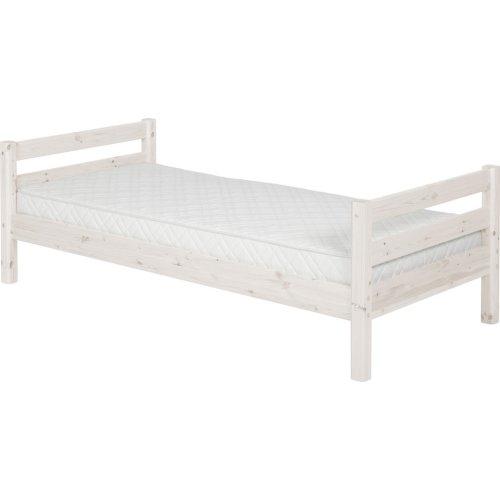 Kopie von FLEXA Classic Halbhohes Bett 140x200cm, Höhe 184cm mit schräger Leiter mattweiß