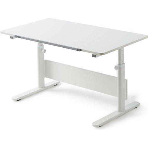 FLEXA Evo Schreibtisch geteilte Tischplatte weiß 82-50147