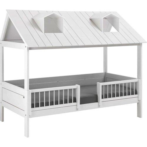 Lifetime Beachhouse Bett 90x200 mit Deluxe Lattenrost, weiß, 479781-10
