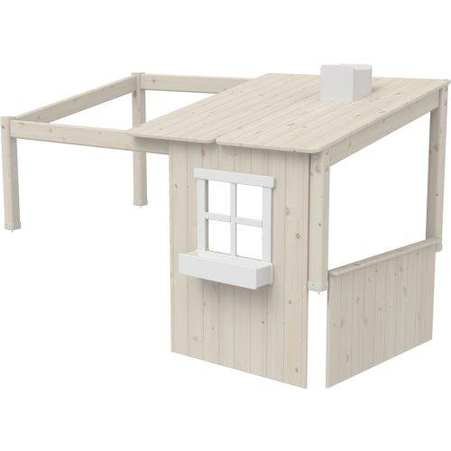 Kopie von FLEXA Classic Baumhaus Aufsatz grau/weiß, 82-70174-72