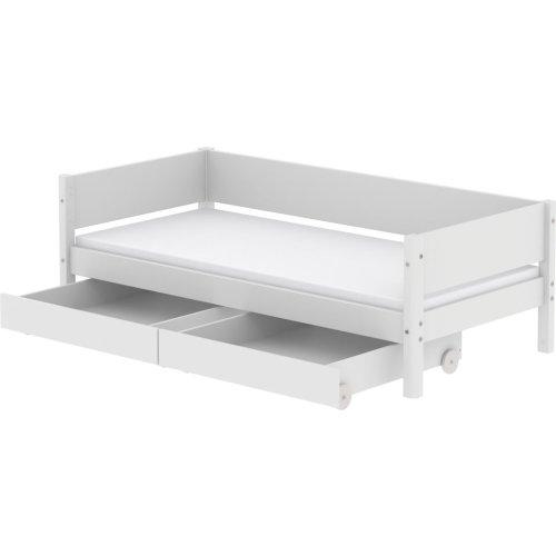 FLEXA White Einzelbett 90x200cm mit zwei Schubladen weiß, 90-10756-40