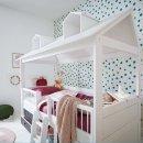 Lifetime Beachhouse Kojenbett 90x200cm mit Rollboden und Regalen weiß lackiert