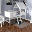 Playbed TREEHOUSE, white, solid wood, 90x200cm