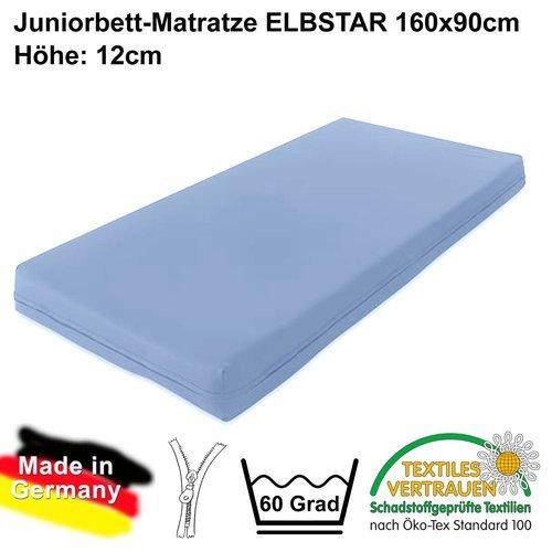 Spezial-Matratze ELBSTAR 90x160cm, Höhe 12cm, schadstoffgeprüft