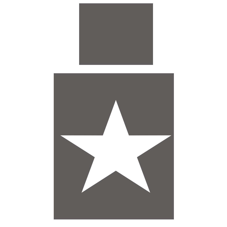 Bettwäsche ROOMSTAR mit großem weissen Stern auf der Bettdecke, in 3 Farben